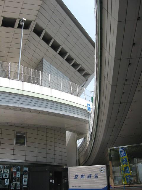 湊町リバープレイスと阪神高速の立体道路 (3)