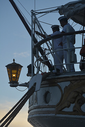 lowering the ensign