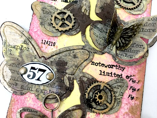 Meihsia Liu simply paper crafts Mixed Media Tag Butterfly 4