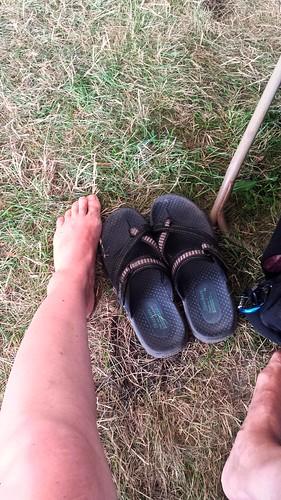Newport Jazz Festival 2016-Irene's sunburnt legs & feet
