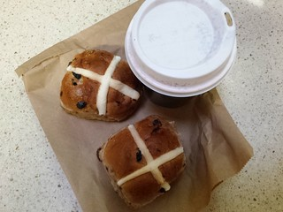 Hot Cross Buns and hot chocolate