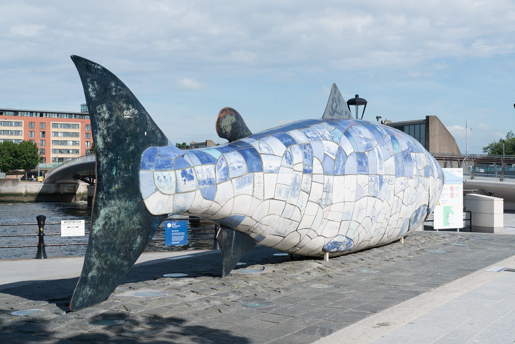 THE BIG FISH NEAR THE LAGAN WEIR IN BELFAST [BY JOHN KINDNESS]-121119