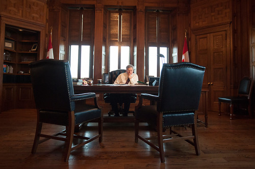 Even when you're PM you have a healthy dose of homework to do every day. | by PM Stephen Harper