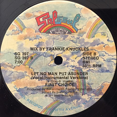 FIRST CHOICE:LET NO MAN PUT ASUNDER(LABEL SIDE-B)