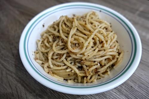 Pesto Tuna Pasta with Mushroom