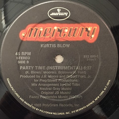 KURTIS BLOW:PARTY TIME(LABEL SIDE-B)