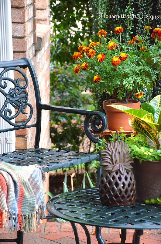 Fall Front Porch - Marigolds - Housepitality Designs