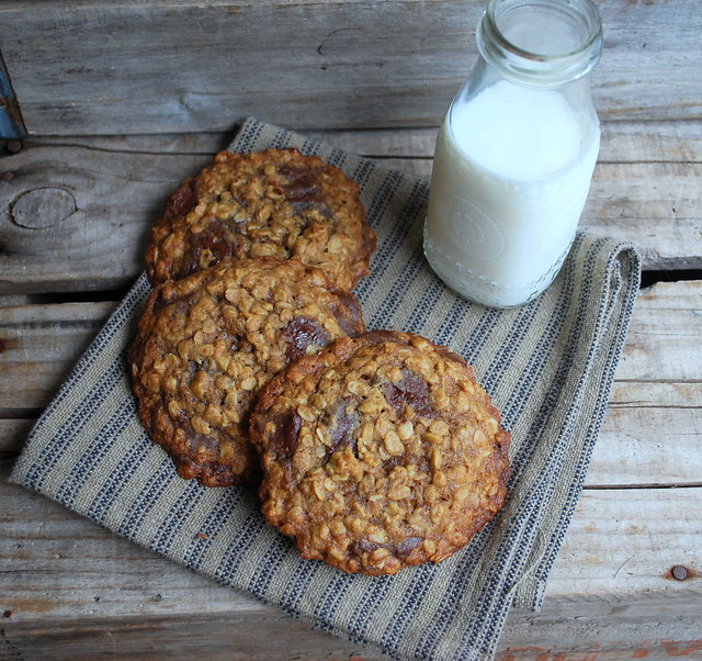 Giant Oatmeal Choc Chip Cookies 1