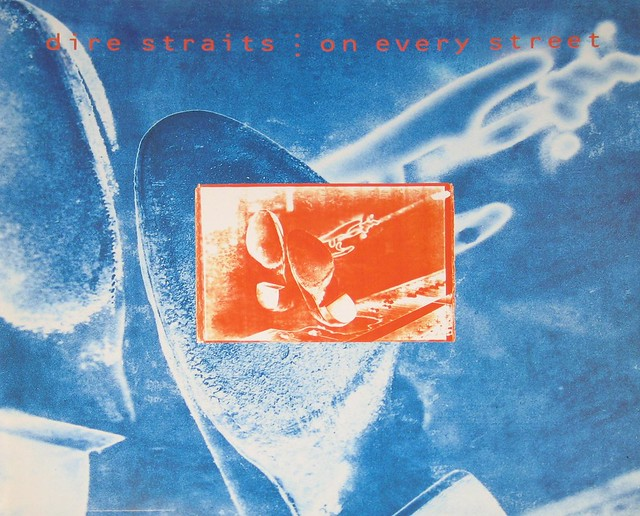 "Dire Straits On Every Street 12"" vinyl LP"