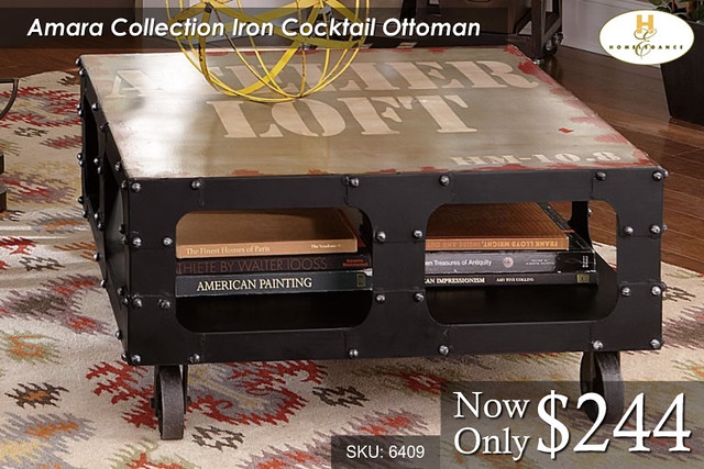 Amara Collection Iron Cocktail Table