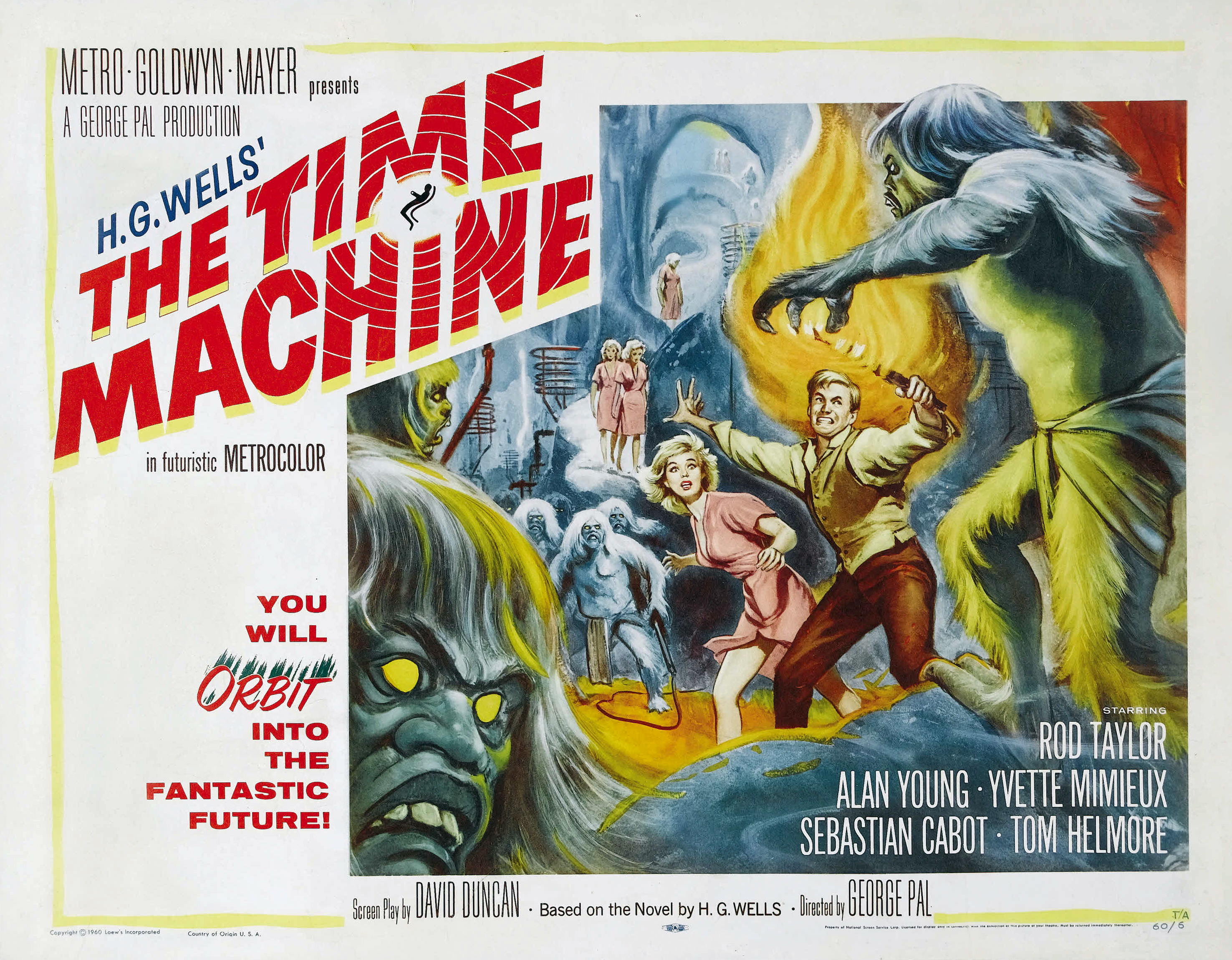 The time machine 1960 amazing movie posters