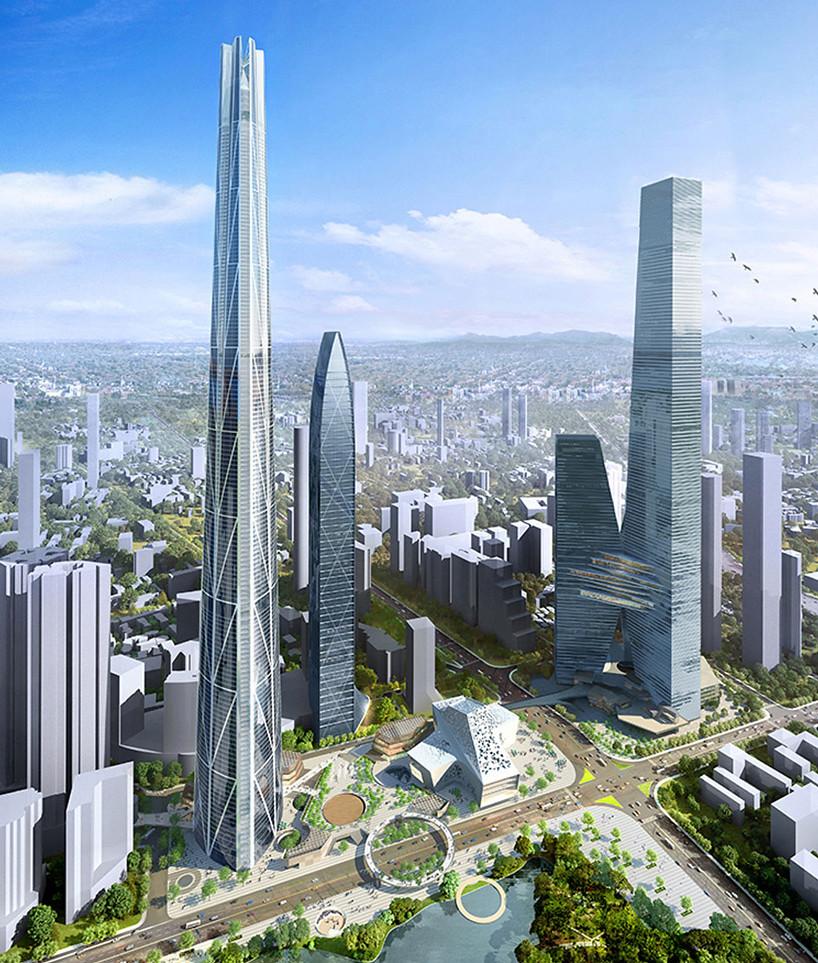 Самый высокий небоскреб в Китае H700 Shenzhen Tower