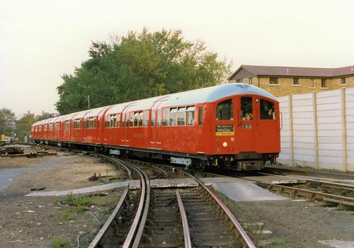 1938 Tube Stock in Morden depot