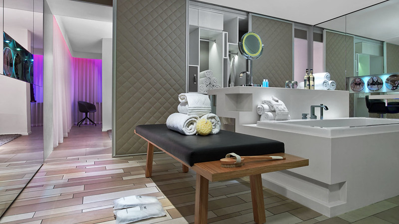 W London Leicester Square Screening Suite Spa Bathroom
