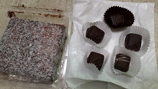 Foodmill Lamington and chocolate truffles