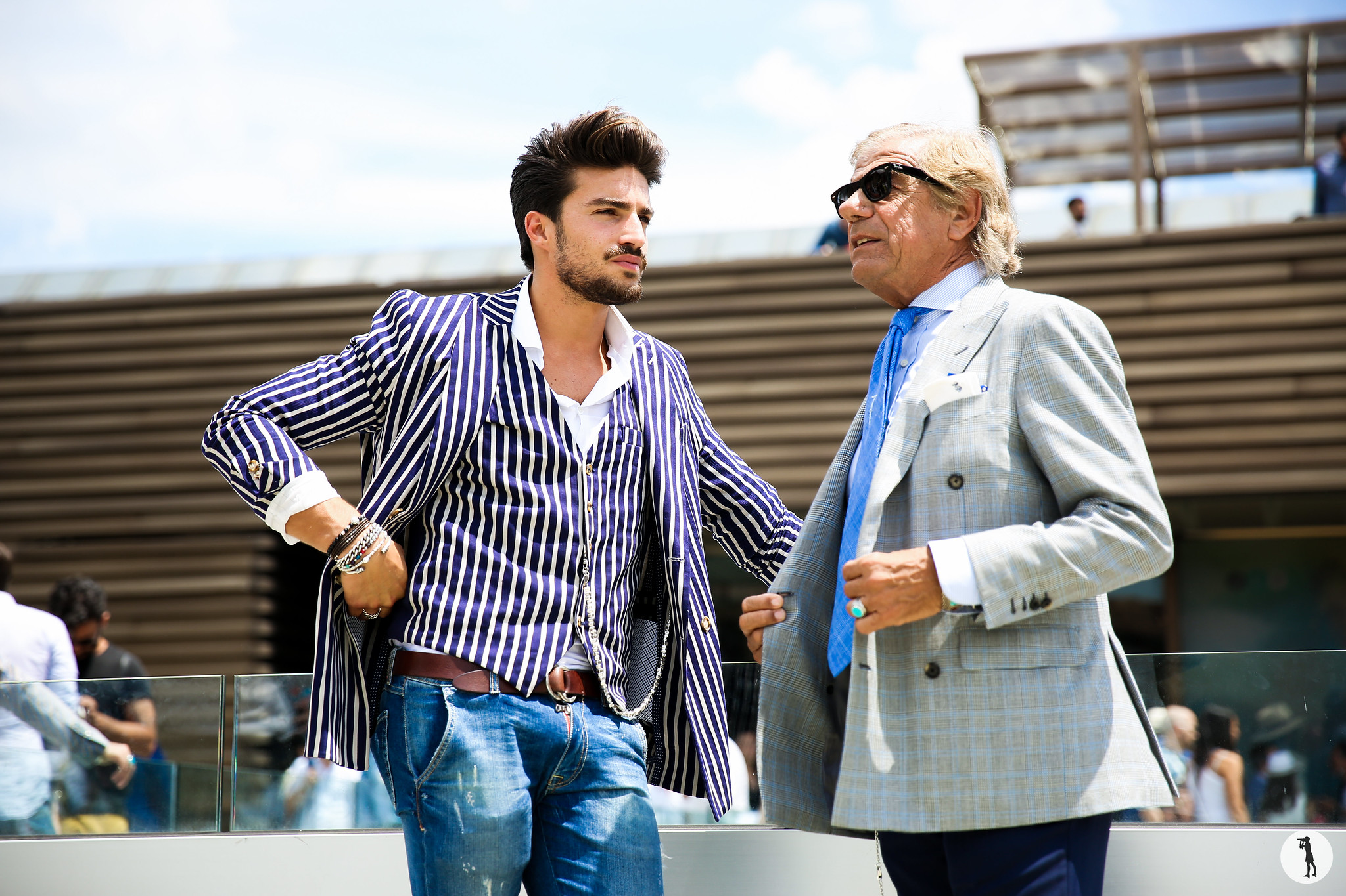 Mariano Di Vaio and Lino Ieluzzi at Pitti Uomo 88-2