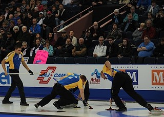 Edmonton Ab.Mar5,2013.Tim Hortons Brier.Alberta skip Kevin Martin,third John Morris,lead Ben Hebert,second Marc Kennedy.CCA/michael burns photo | by seasonofchampions
