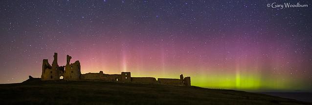 Night Light - Aurora Borealis, Dunstanburgh Castle, Northumberland