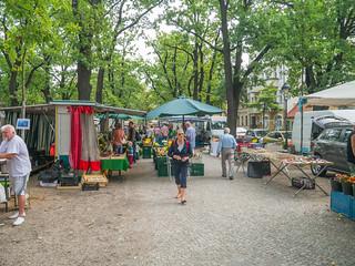 Markt auf dem Weberplatz in Babelsberg