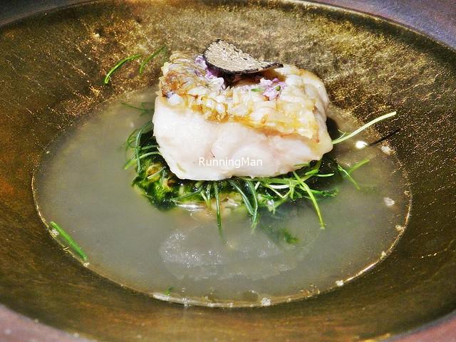 Amadai / Tile Fish, Black Truffle, Koshihikari Rice, Seaweed