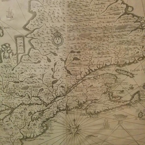 Carte de la Nouvelle France #toronto #torontoreferencelibrary #maps #tdgallery #samueldechamplain #newfrance