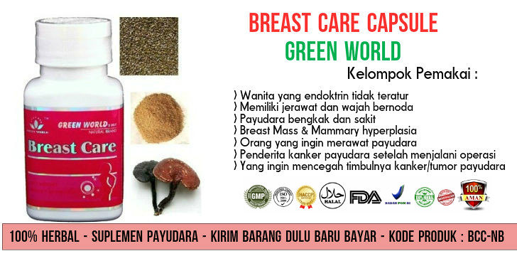 Harga Asli Breast Care Capsule Green World