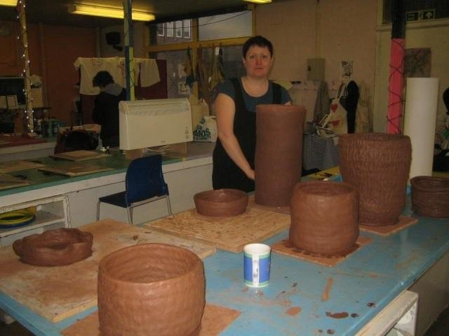 Large handmade coil pots