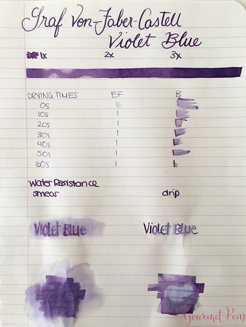 Ink Shot Review Graf Von Faber-Castell Violet Blue @AppelboomLaren 3
