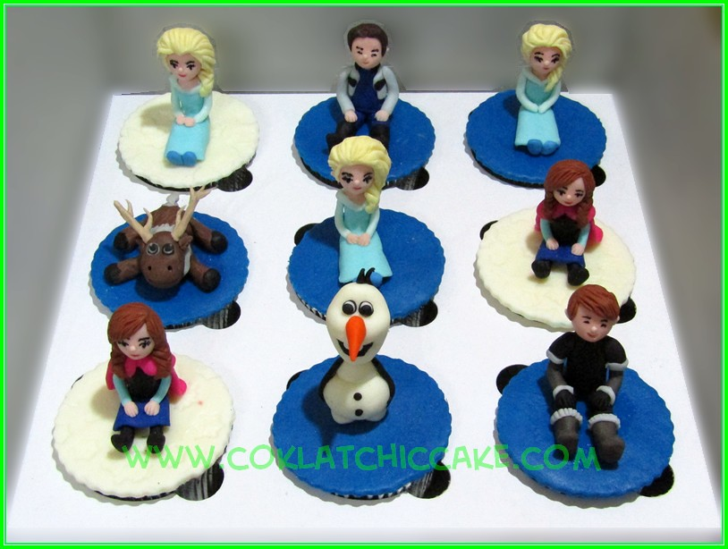 Cupcake set frozen