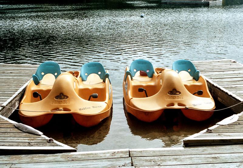 Yellow Paddle Boats