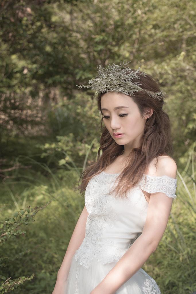 陽明山冷水坑婚紗,新娘花冠