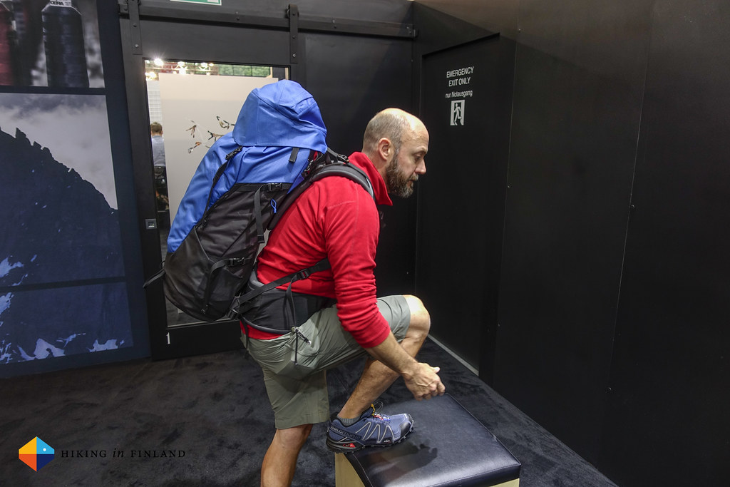 Arc'teryx Bora AR Pack in motion