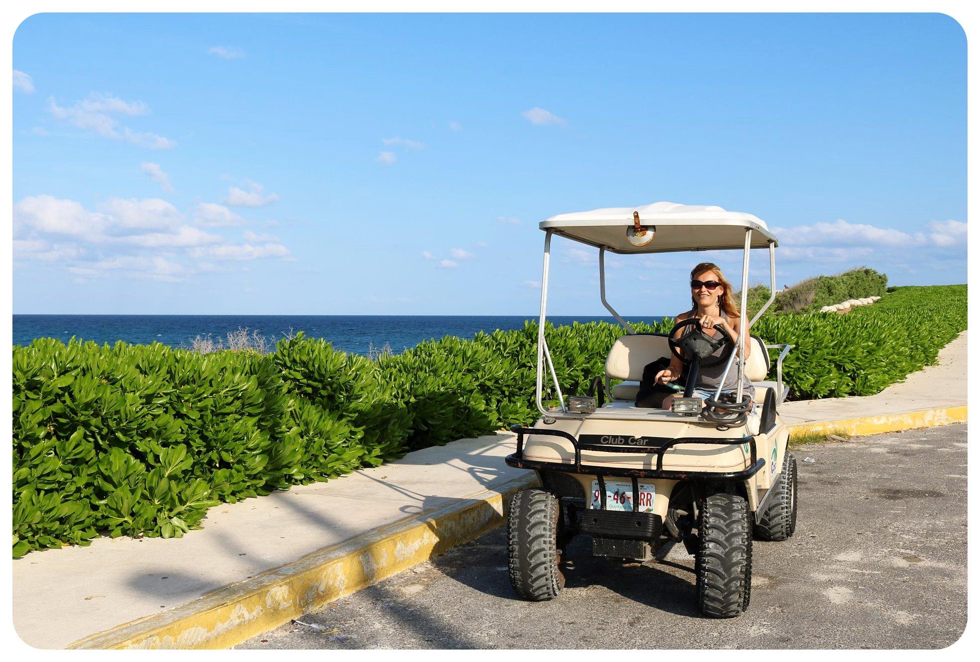 isla mujeres dani golf kart