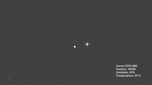 Conjunção Vênus Júpiter 27-08-16