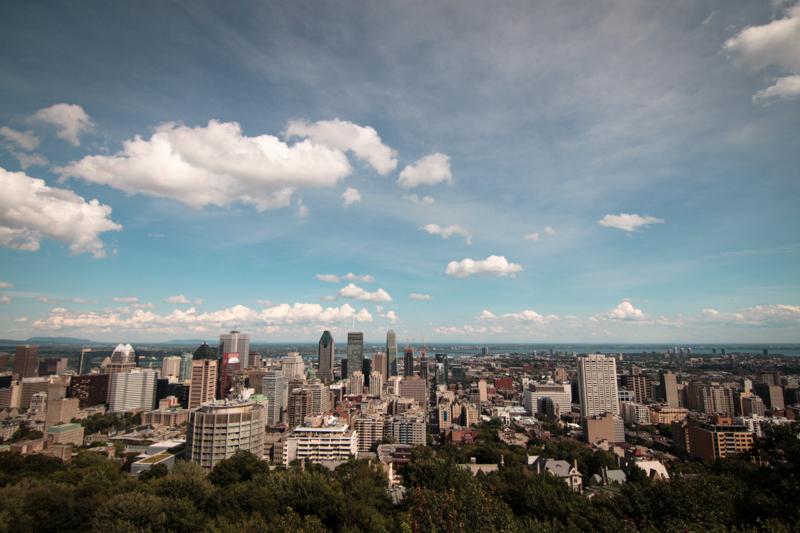 chalet du mont-royal aussicht montreal quebec kanada