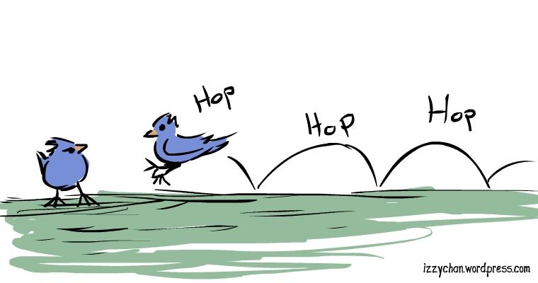 blue bird hop