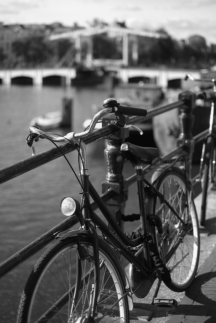 Bike at canal in Amsterdam 44