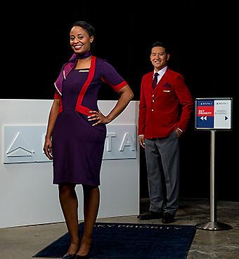 Delta nuevos uniformes aeropuerto (Delta)