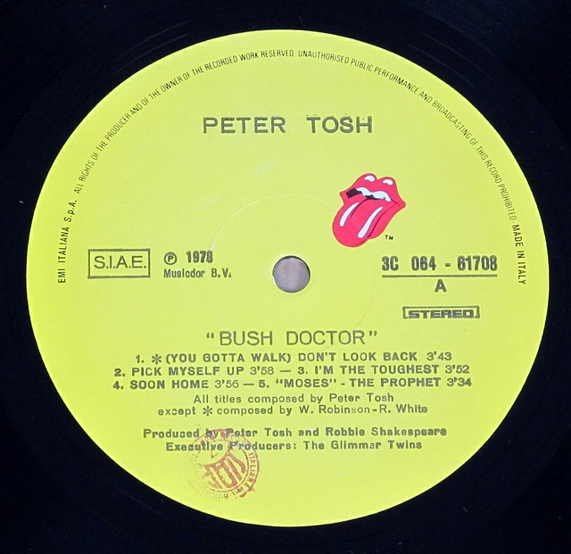 "Peter Tosh Bush Doctor Italy 12"" LP VINYL"