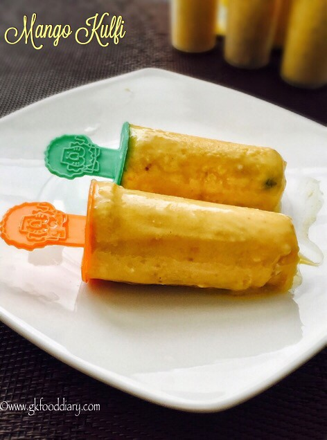 Mango Kulfi Recipe for Toddlers and Kids