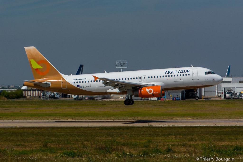 "[ORY] AigleAzur ""Orange2Fly"" Airbus A320-232 _ SX-ORG"