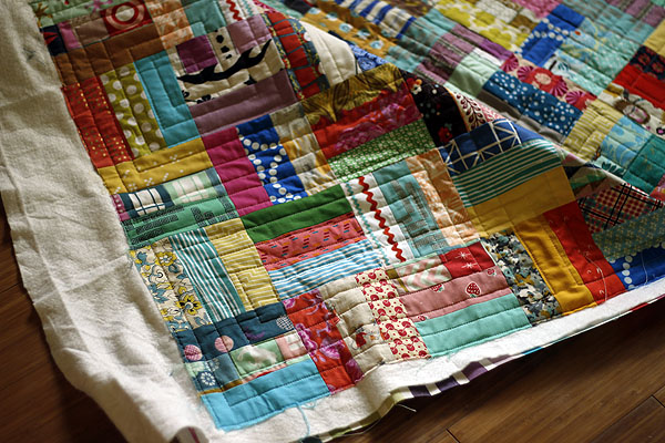 Rail Fence quilt finish!