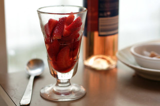 strawberries in glass | by David Lebovitz