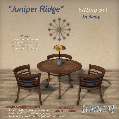"@ SWANK ~ [CIRCA] - ""Juniper Ridge"" - Sitting Set - In Navy"