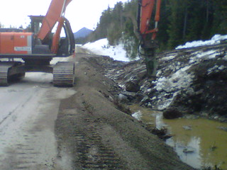 Breaking Bedrock for Highway 16 Detour | by TranBC