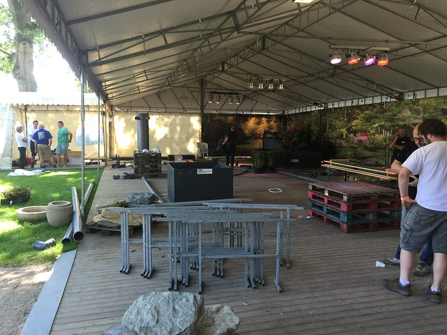Opbouw Holland Koi Show 2016
