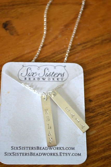 Six Sisters Beadworks Custom Engraved Jewellery