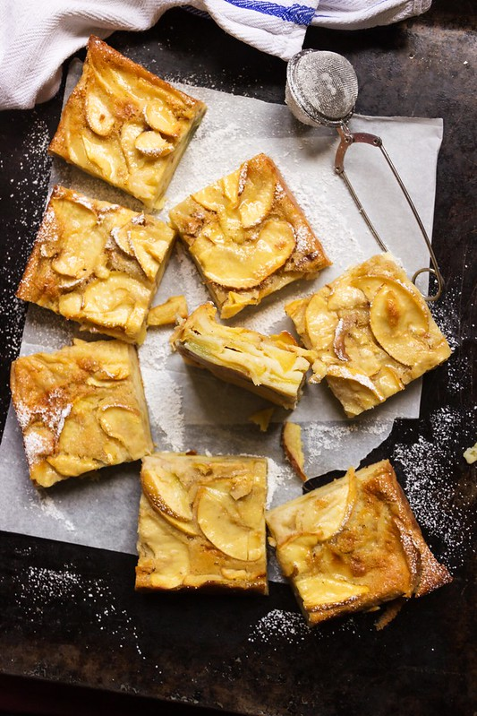 Custardy Apple Squares