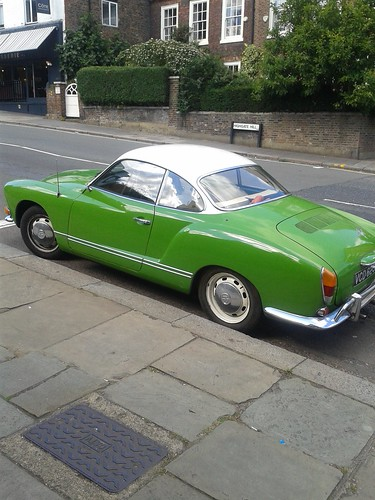 Cute Green Car on Highgate High Street