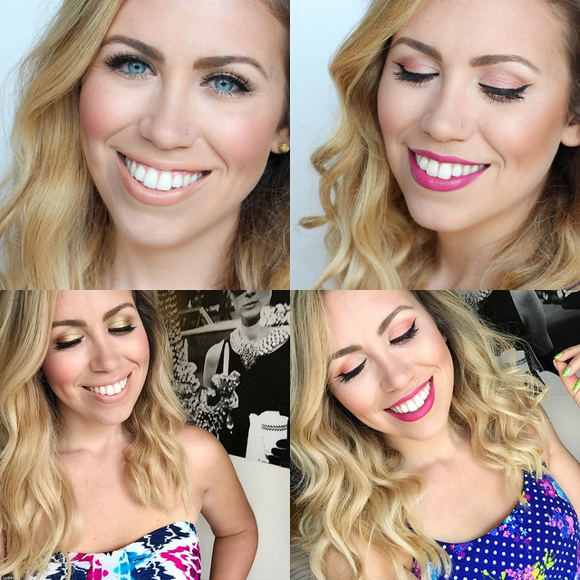 Beauty Makeup Tutorial on Living After MIdnite by Blogger Jackie Giardina July 2016